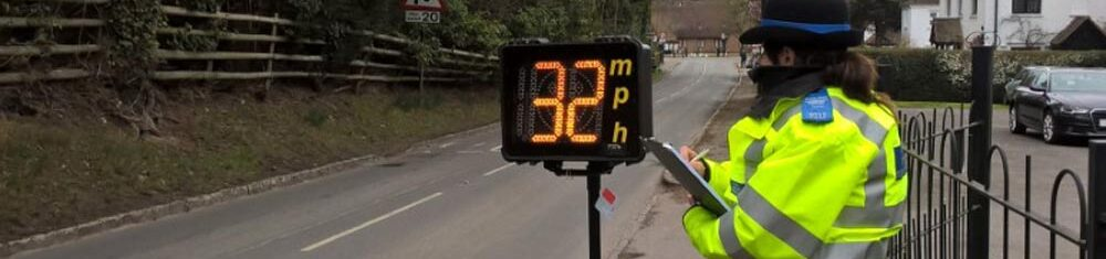 speed monitoring by Thames Valley Police