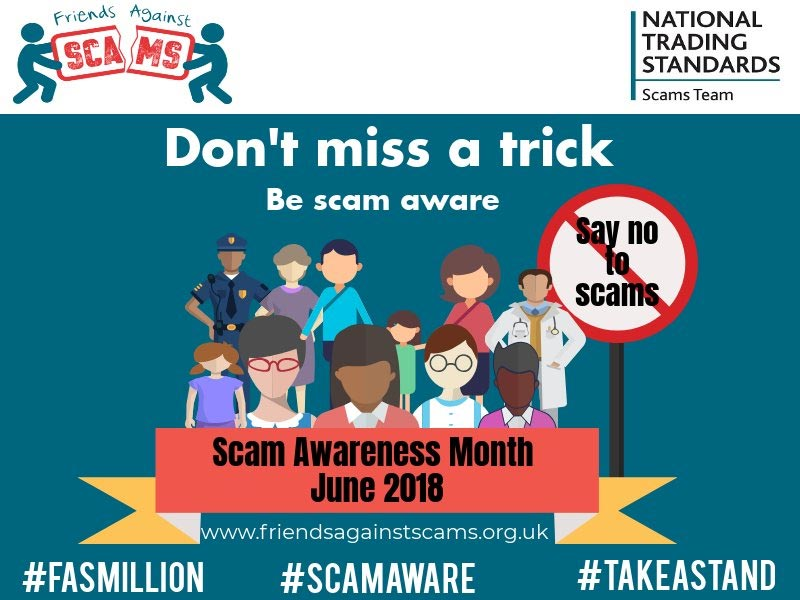 scam awareness month poster