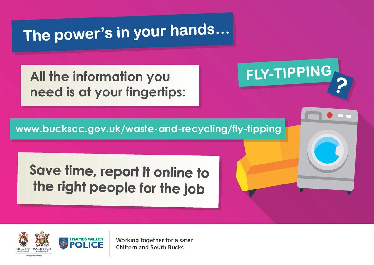 report fly tipping poster