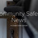 cover of october 2018 community safety news