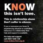 poster for thames valley police and crime commissioner coercive control and abusive relationship campaign