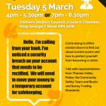 poster for operation anti-scams event