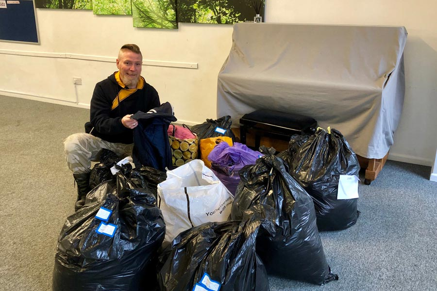 coat and clothing collection organised by Rotate Amersham January 2019