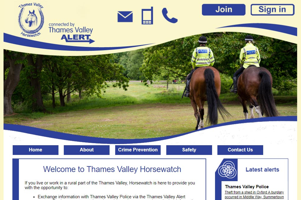 Thames Valley Horse Watch Screenshot