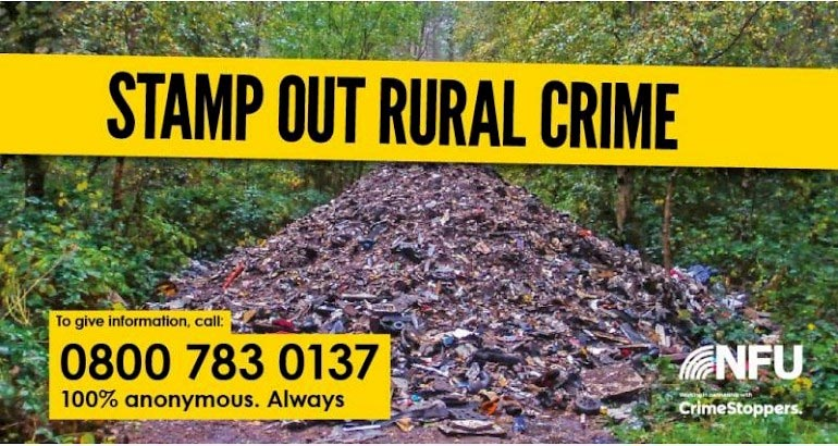 poster advertising Rural Crime Reporting Line