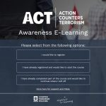 ACT counter terrorism course