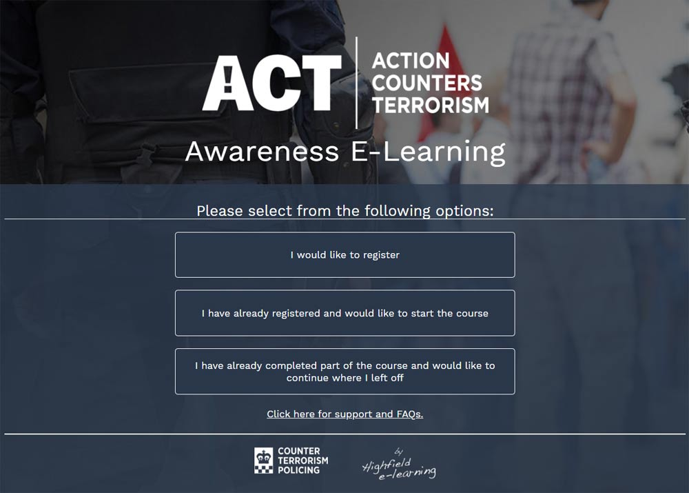 Become a CT Citizen with FREE Counter Terrorism Training
