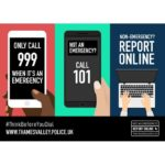graphic on use of 999 and 101 reporting services