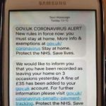 sample coronavirus text scam