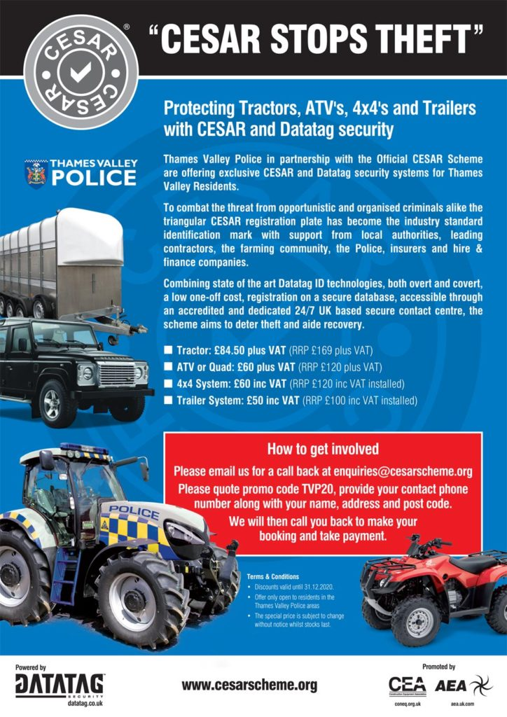 description of cesar scheme for security marking of vehicles and equipment