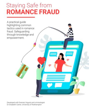 front page of e-book 'Staying Safe from Romance Fraud'