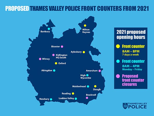 proposed ongoing Thames Valley Police front counters from 2021