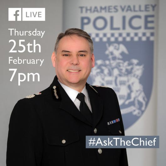 Facebook Live with Thames Valley Chief Constable John Campbell