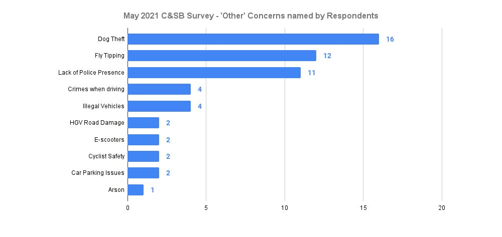 May 2021 Chiltern & S Bucks Policing Issues Forum - other named concerns